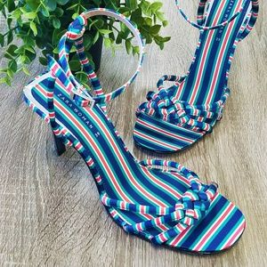 Zara Striped Heels